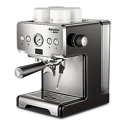 SSCJ Máquina de café Espresso 15 Barra Capuccino Espuma de Leche 1450W 1.7L Tanque de
