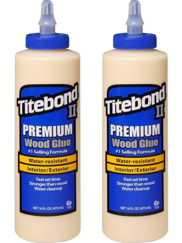 Titebond 5004 II Premium Wood Glue, 16-Ounces (Тwo Рack)