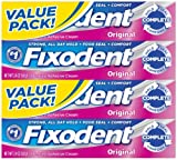 Fixodent Original Denture Adhesive Cream-2.4 oz, 4 pk