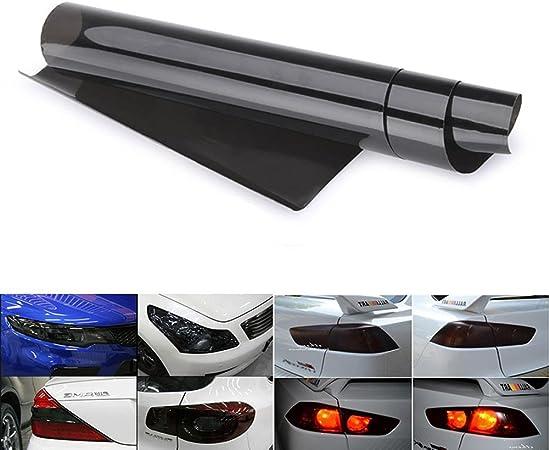 Scheinwerfer Folie Auto Tönungsfolie Aufkleber 30 120cm Wasserdicht Nebelscheinwerfer Rückleuchten Blinker Schwarz Auto