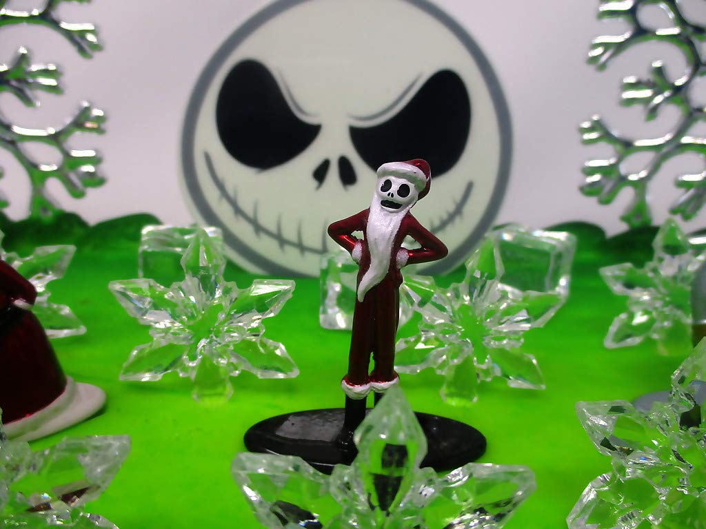Nightmare Before Christmas Winter Wonderland Themed Birthday Cake Topper Set with Jack Skellington and Decorative Themed Accessories by Cake Topper (Image #7)
