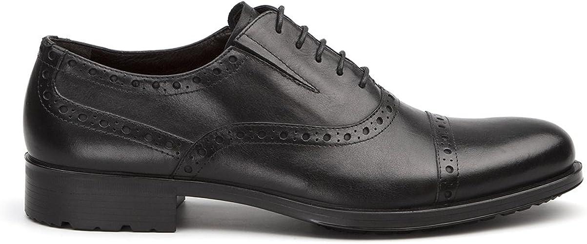 TJ Collection , Chaussures de Ville à Lacets pour Femme Noir