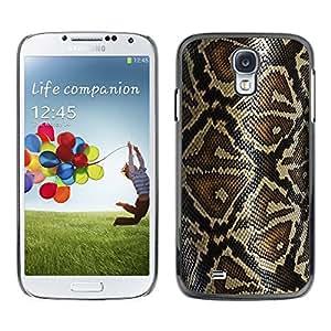 KOKO CASE / Samsung Galaxy S4 I9500 / patrón de la serpiente arte de la naturaleza de la piel del reptil / Delgado Negro Plástico caso cubierta Shell Armor Funda Case Cover