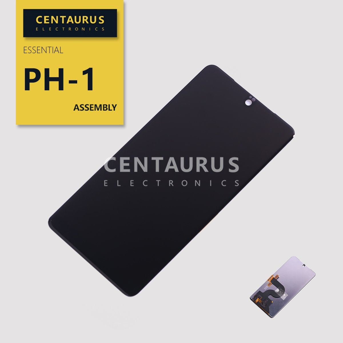 CENTAURUS Compatible with Essential PH-1 LCD Display Digitizer Touch Screen Glass Assembly Part Replacement for Essential Phone PH-1 5.7 inch (Black-NO Frame) by CE CENTAURUS ELECTRONICS
