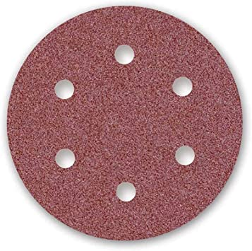 MENZER Red Discos Abrasivos con Velcro, 225 mm, 6 Agujeros, Grano ...