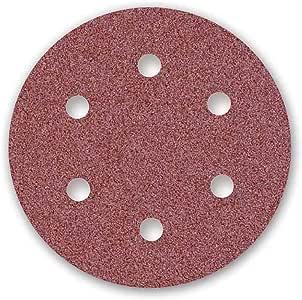Corind/ón Normal 225 mm MENZER Red Discos Abrasivos con Velcro para Lijadoras de Pared 25 Piezas 6 Agujeros Grano 80