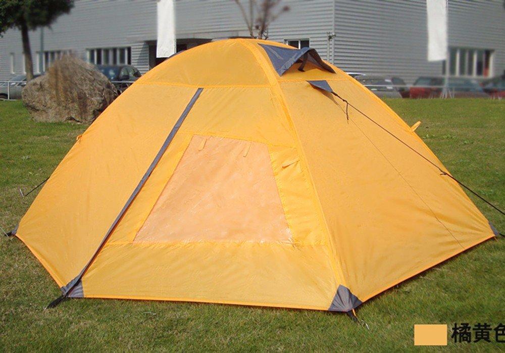 SJQKA-Zelt Outdoor 2 Personen Anti-Heavy Regen doppelt Aluminium Pole Ultra-Light Manuell) Camping Feld 2-3 Personen Zelt Kit