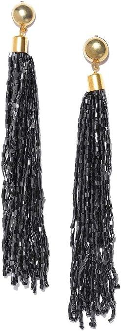 Crunchy Fashion Bollywood Style Party Wear Bohemian Coral Beaded Tassel Earrings for Women /& Girls