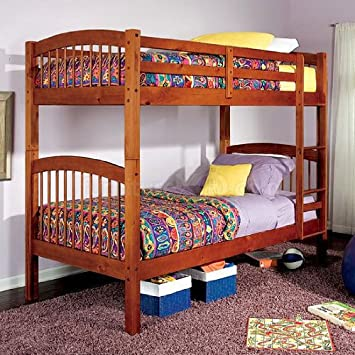 Diamond Lake Twin Twin Bunk Bed In Oak Amazon Co Uk Kitchen Home