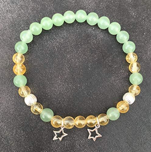 55833e2f9dfd CITRINE encanto pulsera verde aventurina y estrella de plata 925 atrae  dinero abundancia oportunidad de piedra natural semi-preciosa