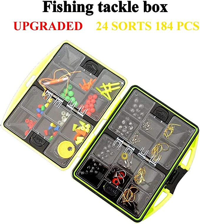 LiteBee 263PCS Fishing Accessories Kit with Tackle Box and Fishing Plier for Saltwater//Freshwater