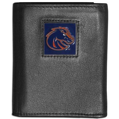 NCAA Boise State Broncos Leather Tri-Fold Wallet Boise State Broncos Leather