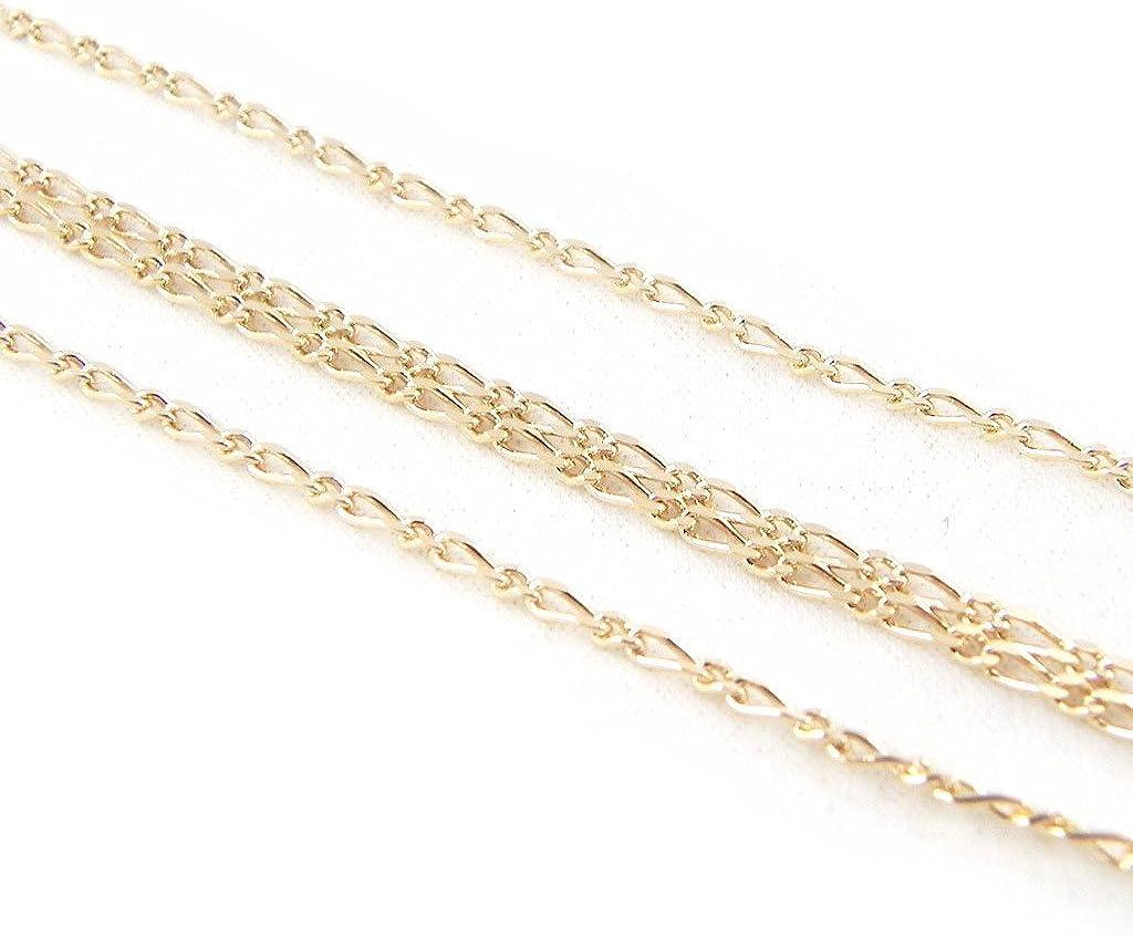 Les Tr/ésors De Lily C7406 - Chaine Plaqu/é Or Figaro dor/é - 55 cm 1.9 mm