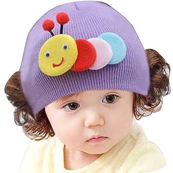 mnoMINI Gorro de Lana para bebé, Gorro de Invierno con diseño de ...