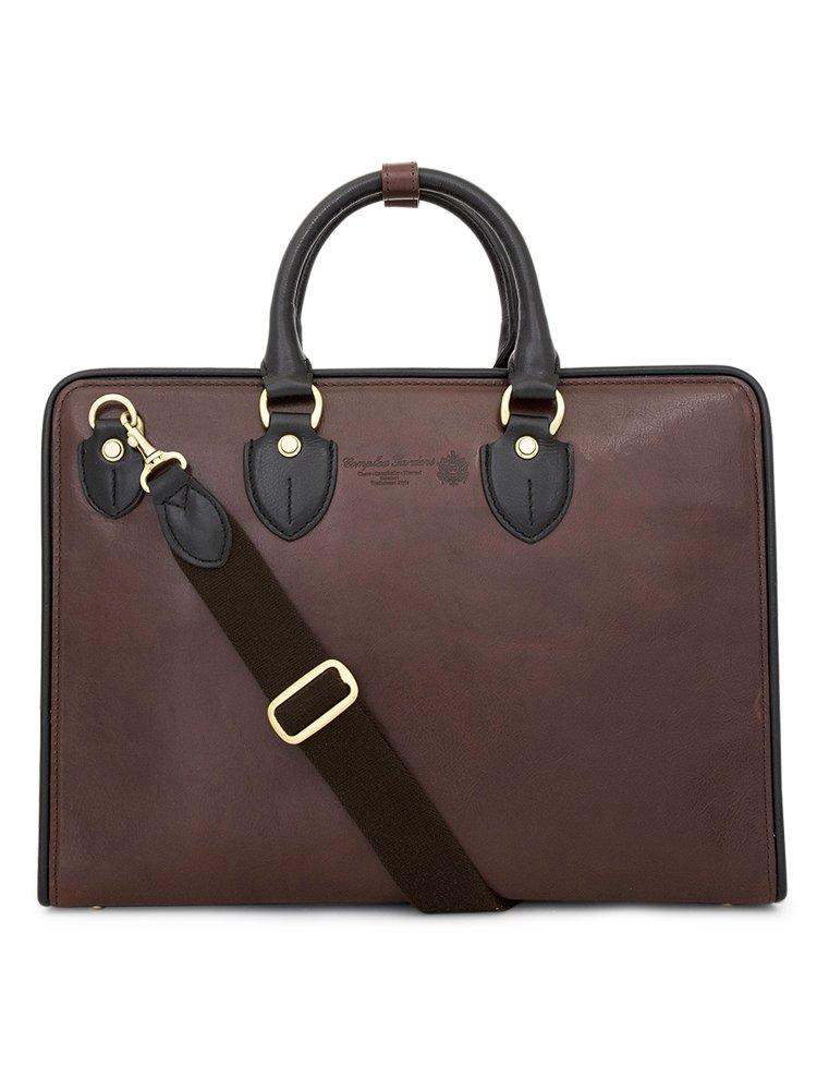 青木鞄(COMPLEX GARDENS)ビジネスバッグ メンズ 革 [如浄 ニョジョウ No.3096] B00ENBHW26 ダークブラウン/ブラック ダークブラウン/ブラック