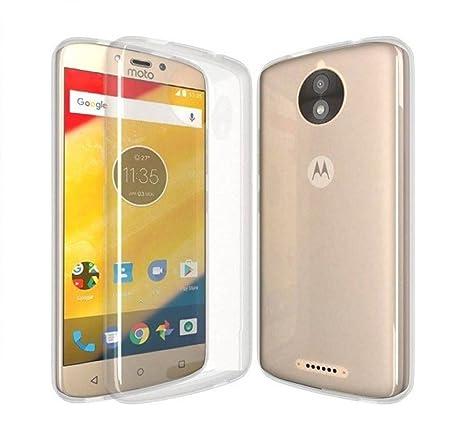COVERNEW Back Cover for Motorola Moto C Plus XT1721   Transparent