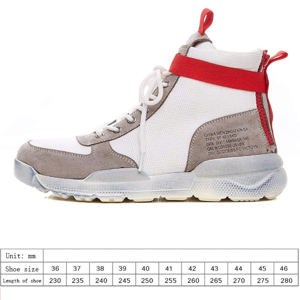 ZYFXZ Zapatos de Seguridad Calzado Deportivo y de Ocio de Alta Gama Harajuku. Tendencia Salvaje. Zapatillas de Hip-Hop de Tiro Callejero (Blanco, Negro, ...