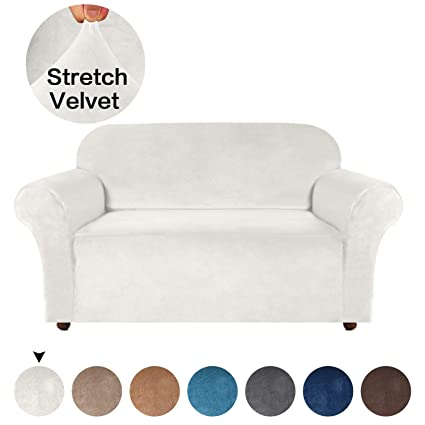 Magnificent Turquoize Velvet Loveseat Cover Loveseat Slipcover One Piece For Leather Couch Cover High Spandex Sofa Slipcover For Dogs With Anti Slip Foams Machost Co Dining Chair Design Ideas Machostcouk