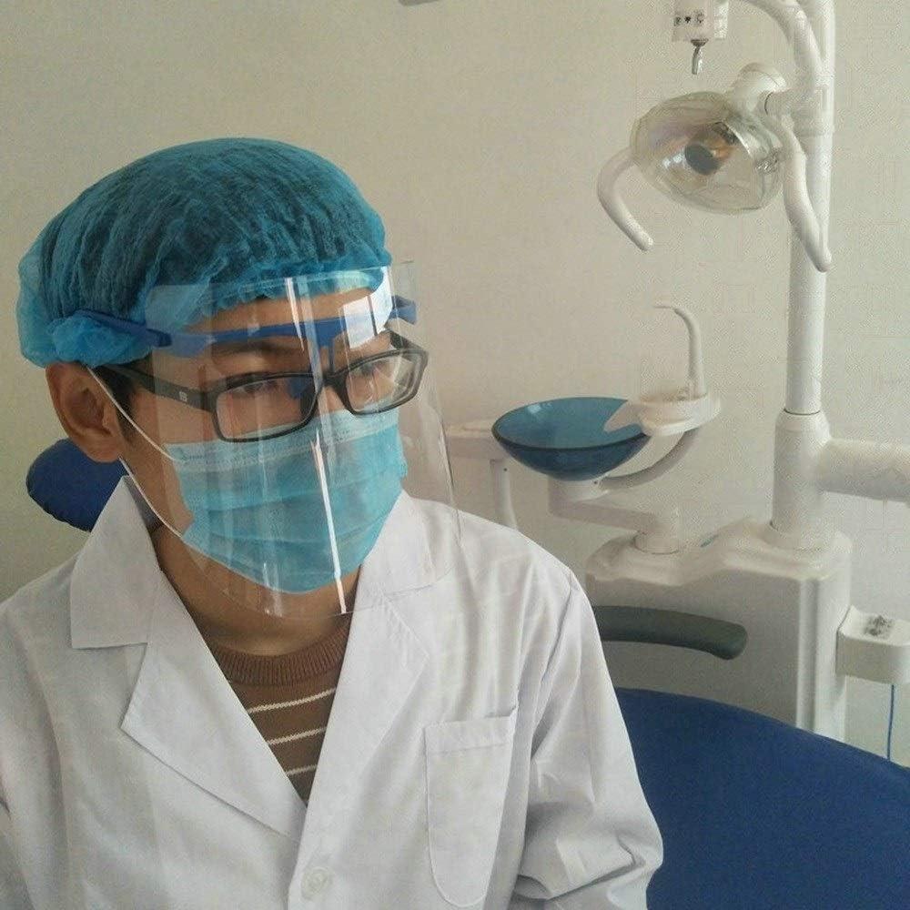 MOCN Eyewear Escudo Desmontable Ajustable Ajustable con 1 viseras desmontables Dental