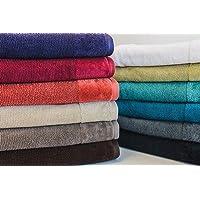 Bambury Costa Towel Range Face Washer , Black , Pack of 1