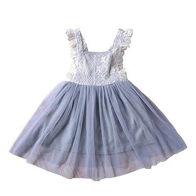 6a1bdd72772f4 Brightup Enfants Filles Robes D u0027été Fille Vêtements