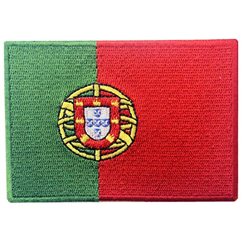 Portugal Flag Embroidered Emblem Portuguese Iron On Sew On National - E Portugal