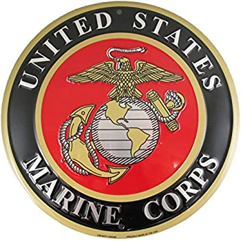 Amazon United States Marines Emblem Metal Sign Us Marine