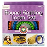 Round Knitting Loom Set, Round Knitting Loom Set, Multicolor, Round Set Knitting Loom Looms 4 Hook Knitter Knit Needle Plastic Craft