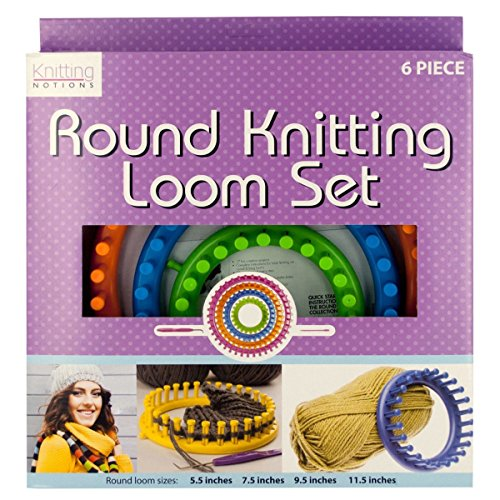 Round Knitting Loom Set, Round Knitting Loom Set, Multicolor, Round Set Knitting Loom Looms 4 Hook Knitter Knit Needle Plastic Craft by Holovachuk