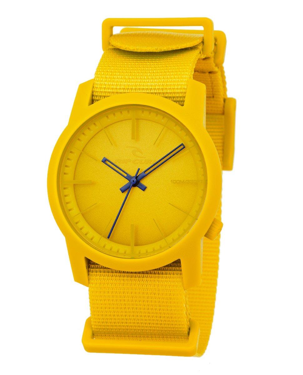 Rip Curl Men's 'Cambridge ABS-Black' Quartz Plastic and Nylon Sport Watch, Color:Yellow (Model: A2569-YEL)
