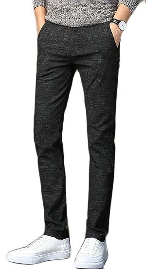 4c4a75e6fd4 M S W Men Cotton Linen Slim Casual Straight Fit Flat Front Pants at ...