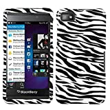 z10 full housing - MYBAT BB10HPCIM056NP Slim and Stylish Snap-On Protective Case for BlackBerry Z10 - Retail Packaging - Zebra Skin