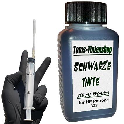 250 ml Tinta Negra pigmentada 338 Premium recarga NEGRO para ...
