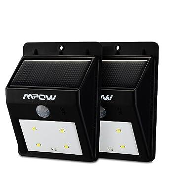 Double luminaire exterieur Mpow Lampe Solaire LED Sans Fil avec