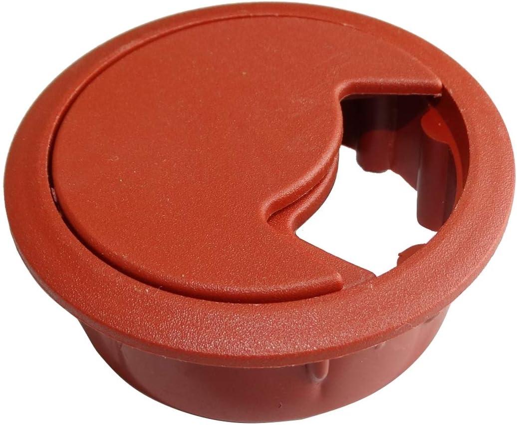 Gris, 10 pi/èces AERZETIX Passe-c/âble Rond en Plastique pour Bureau Meuble Ouverture 60mm