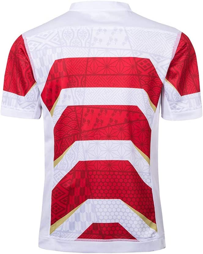 Size : 4XL Copa Mundial De Rugby Camiseta del Equipo De Jap/ón 2019 2018 Camiseta De Manga Corta para Hombres Polo