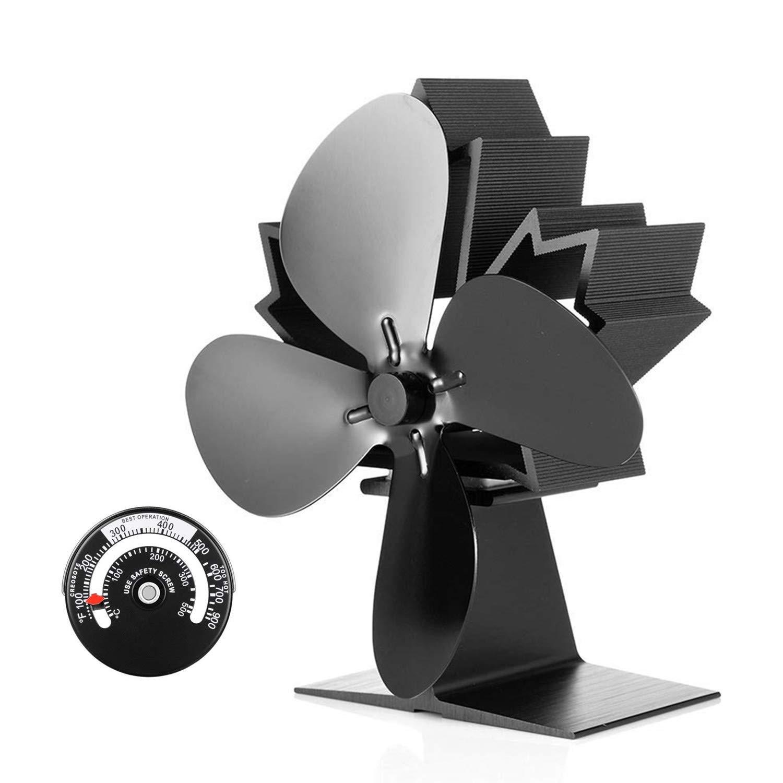 Stromloser Kaminofen Ventilator Ofenventilator Fan 8S Gebläse für Holzofen Kamin