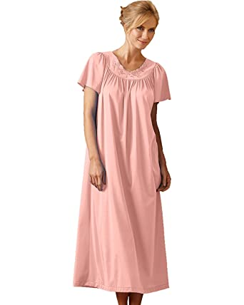 Shadowline Long Gown Flutter Sleeves 32280 at Amazon Women\'s ...