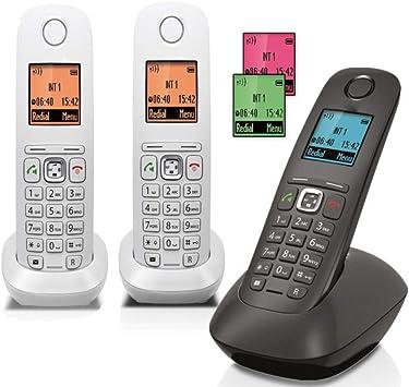 GUOOK TeléFono BotóN Vintage ExtensióN TeléFono InaláMbrico Digital Hogar Fijo Fijo MáQuina úNica InaláMbrica Bienvenido (Color: B): Amazon.es: Hogar