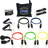 bodylastics Resistance Bands Set with Patented Anti-Snap Elastics, Patented Clips, Upgraded Handles, Door Anchor, Legs, Wrist