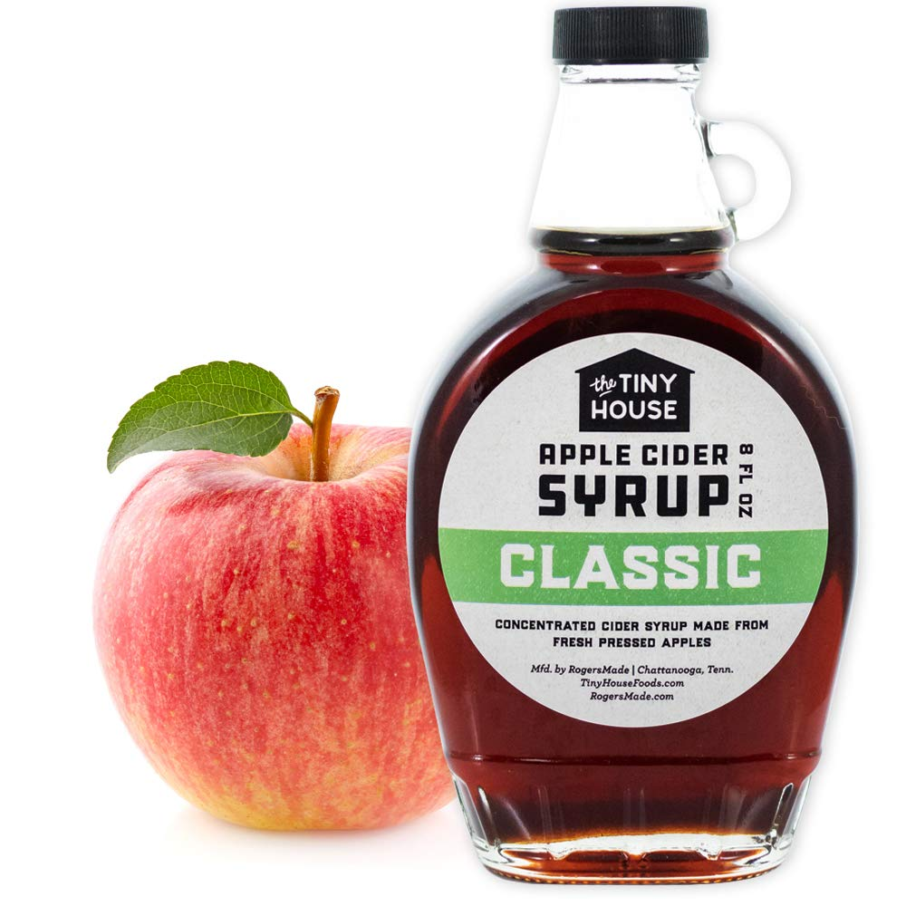 The Tiny House Classic Apple Cider Syrup | Handmade Concentrated Cider Syrup from Fresh Pressed Apples | A Perfect Breakfast Syrup & Pancake Syrup | Proudly Made in the USA | 8 Ounce Bottle