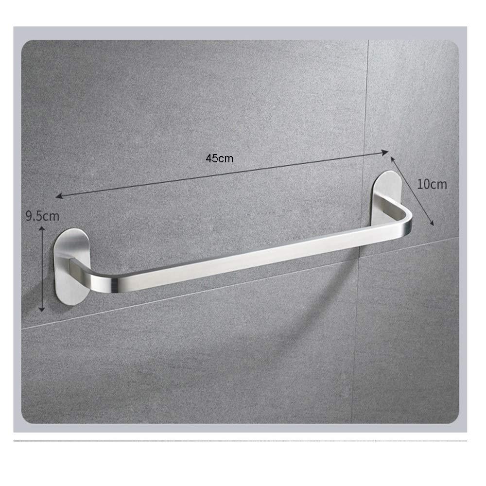 Hand Gesichtst/ücher in den Haupt- oder Gastpuder-R/äumen Halter-Gestell for h/ängende Waschlappen Metallbadezimmer-Speicher-Tuch-Stab Color : Silver, Size : 35cm