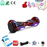 """CXM Hover Board UL 2272 Certified Hoverboard 6.5"""" Electric Scooter 2 Wheels Self Balancing Scooter App-Enabled with Bluetooth Speaker and LED light"""