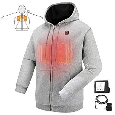 cf417e085 Amazon.com  COLCHAM Heated Sweatshirt Men Women Warm Fleece with ...