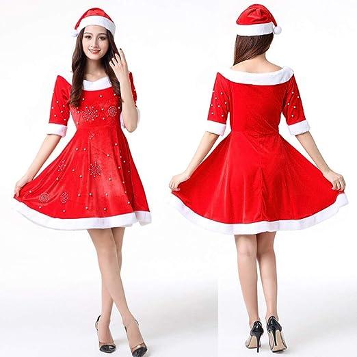 Disfraz De Navidad para Mujer Disfraz Traje Sra. Santa Claus Damas ...
