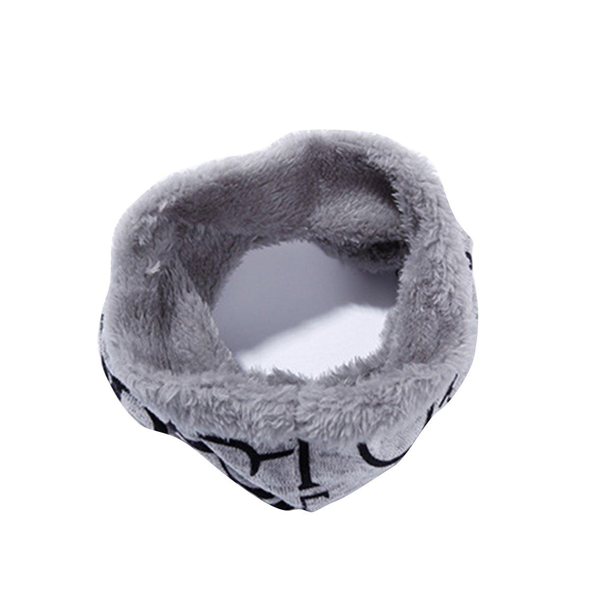 Butterme Forro Polar de Felpa Unisex de Invierno Forro Polar Pañuelo de Cuello Estrella Bufanda de Cuello Estampado ZUMUii ZUMU00006155