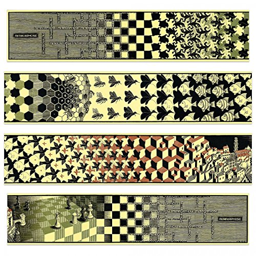 Panels Mdf Decorative (Artopweb Escher-Metamorphosis II, 1940 (4 MDF (Decorative Panel 39.5x8.5 inches), 39.5