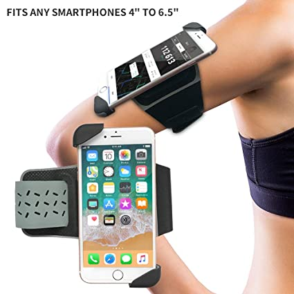 Lioeo Armband for iPhone 7/7 Plus 8/8 Plus 6/6 Plus iPhone X/XR/Xs Max  Samsung Galaxy S9/S9 Plus S8/ S8 Plus S7 Sport Armband for Phone Running  Gym