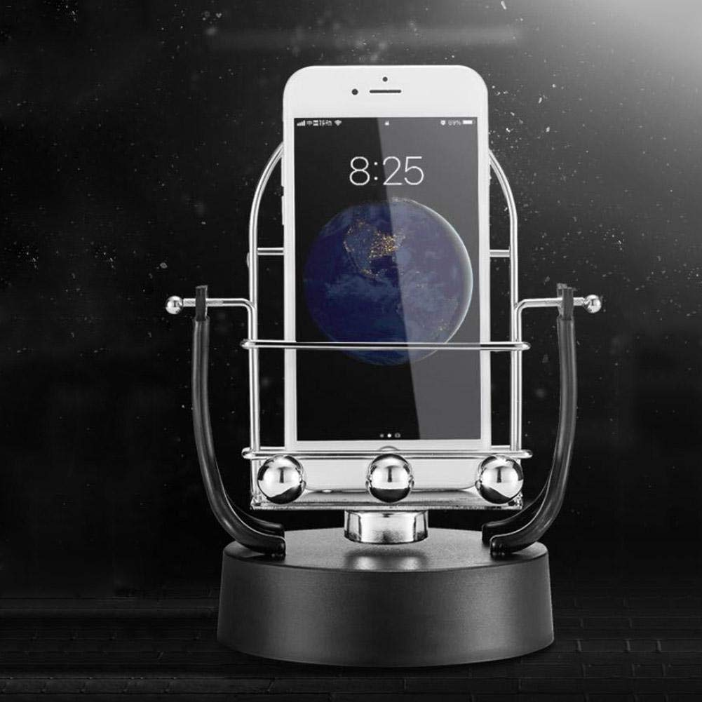 Hearty Novel Revolving Swing Balance Ball Phone Holder Amount Perpetual Motion Physics Intelligent Automatic Pedometer Phone Holder Cellphones & Telecommunications Mobile Phone Accessories