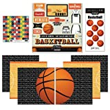 Scrapbook Customs Go Big Basketball Themed Paper and Stickers Scrapbook Kit